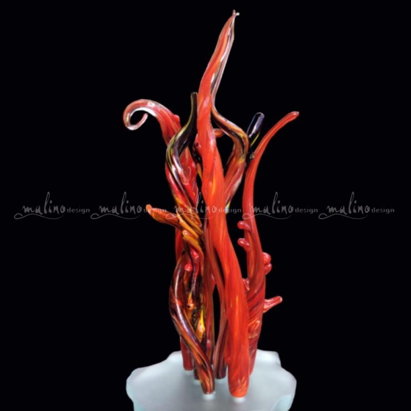 Композиция из цветного стекла Коралл