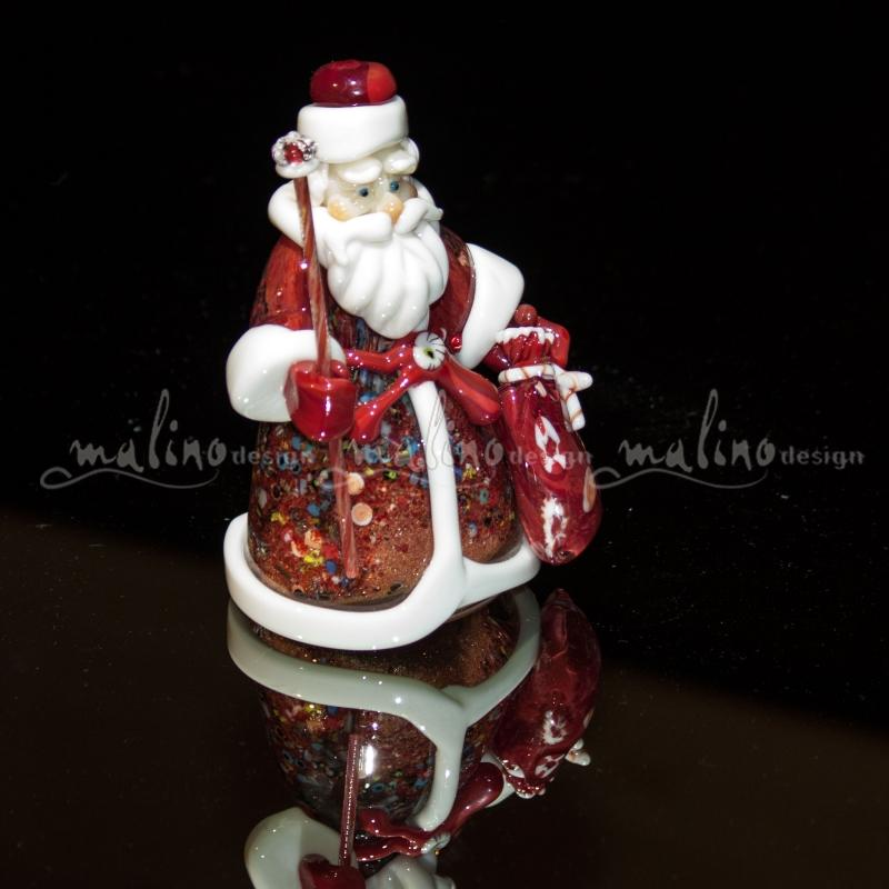 Фигурка из стекла Дед Мороз