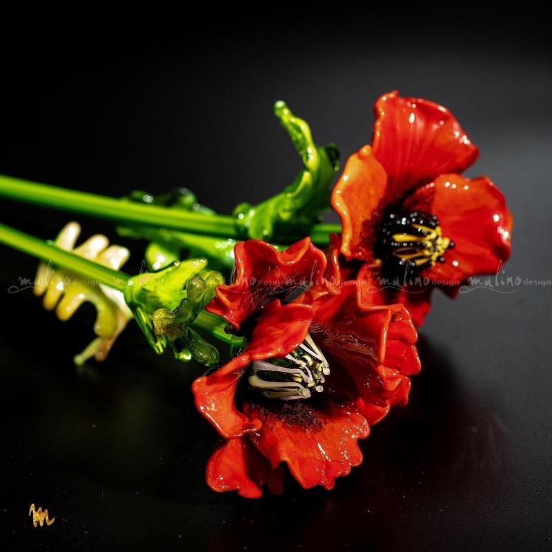Стеклянный цветок МАК