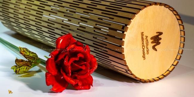 Фанерный тубус для стеклянных цветов – примеры ранее выполненных работ