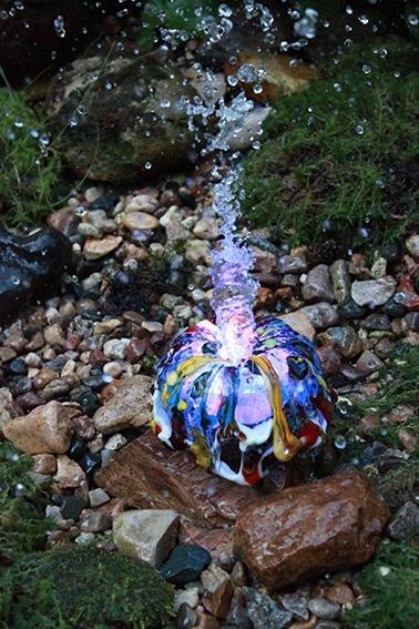 Светильник-фонтан – примеры ранее выполненных работ