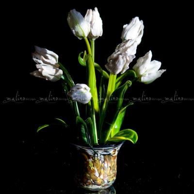 Стеклянная композиция Весна в белом – примеры ранее выполненных работ