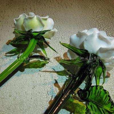 Стеклянная роза Белая – примеры ранее выполненных работ