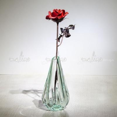 Стеклянная роза на медном черенке – примеры ранее выполненных работ