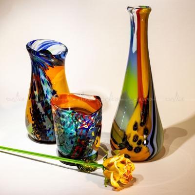 """Ваза из цветного стекла """"Алоха-вертикаль"""" – примеры ранее выполненных работ"""