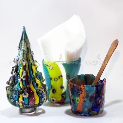 Елочка из цветного стекла – примеры ранее выполненных работ