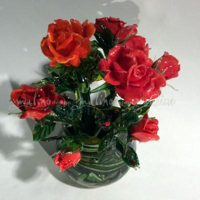 Букет красных стеклянных роз – примеры ранее выполненных работ