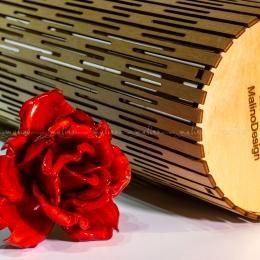 Фанерный тубус для стеклянных цветов