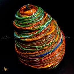 Ваза из цветного стекла Бабушкин клубок